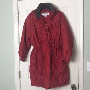 Columbia Red Anorak Coat Size M